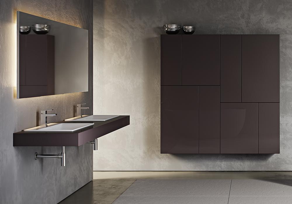 Integration von Möbel im Bad in den Wohnbereich