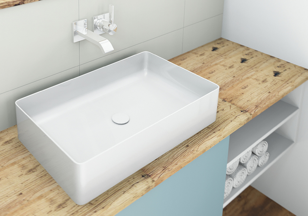 Möbel im Bad Echtholzfurnier-Waschtischplatte